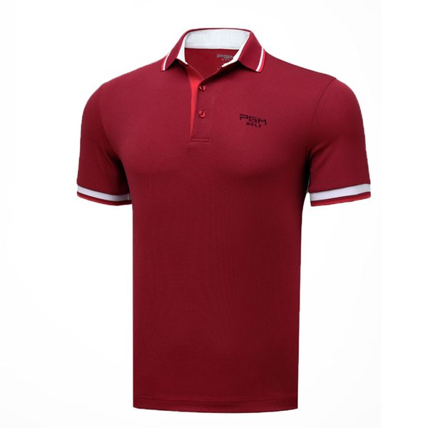 Men's Quick Dry Breathable T-Shirt Anti-Sweat Short Sleeve Golf Polo Shirts Male Stand Collar Comfort Golf Apparel AA11821