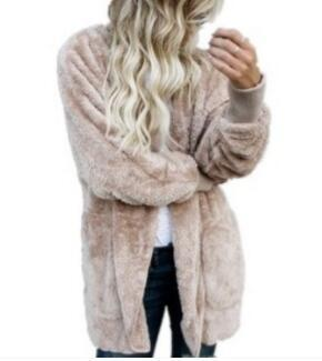 Women Autumn Winter Designer Coats Fake Faux Fur Long Solid Warm Jackets Clothing Vestidoes