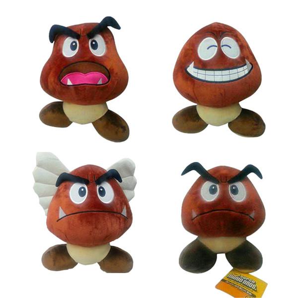 15cm weiche Karikatur Super Mario Bros Stofftier Giftiger Pilz Goomba Plüsch Spielzeug Geschenke für Kinder