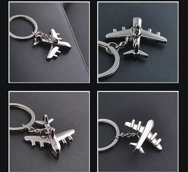 Keychain Modern Fighter Aircraft Airplane Key Chain Mini aircraft Key Ring Bag Pendant Car Keyring For Man Women Gift wholesale