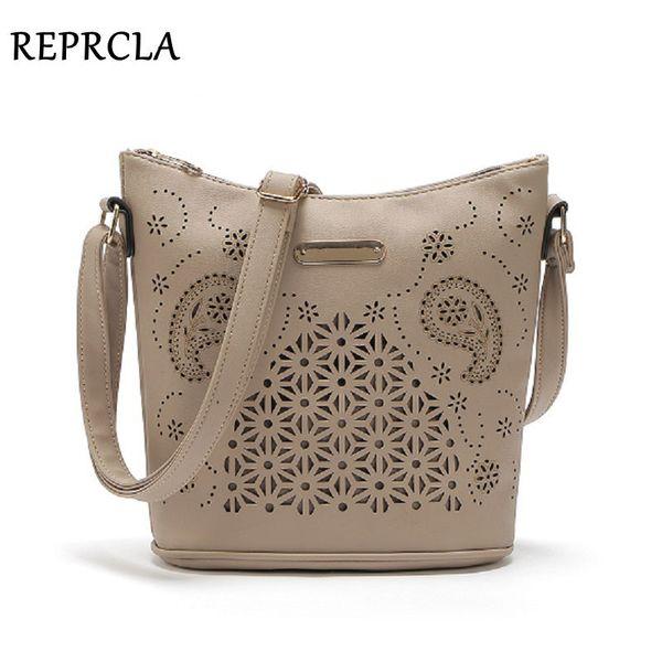 REPRCLA Hollow Out Women Bucket Bags Vintage Shoulder Bag Crossbody High Capacity Women Messenger Bags Ladies Handbags Y1892608