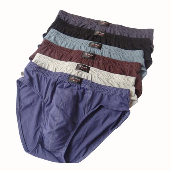 2017 New men's low-waist briefs breathable sexy men underwear u convex design brave underpants men hot sale 1lot=3pieces