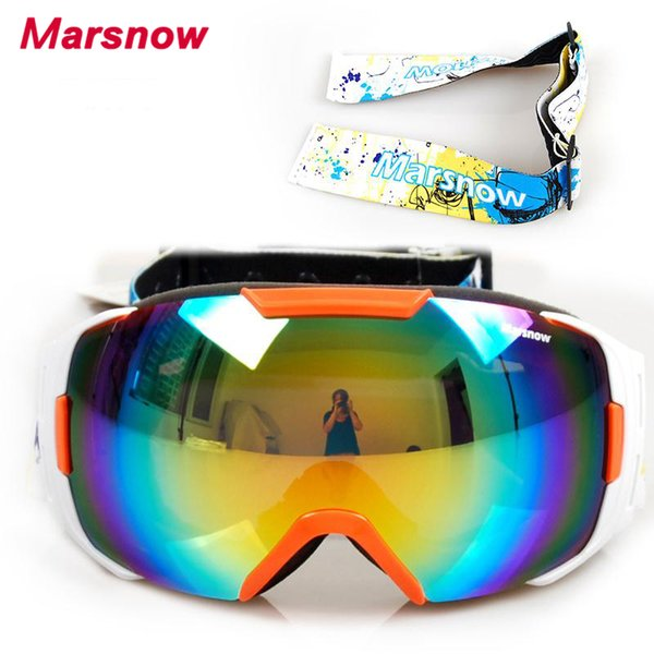 Two Exchangeable Belts 2017 Snowboard Goggles For Men Women Big View High Quality Snow Glasses Double Layer Skiing Goggle M0086