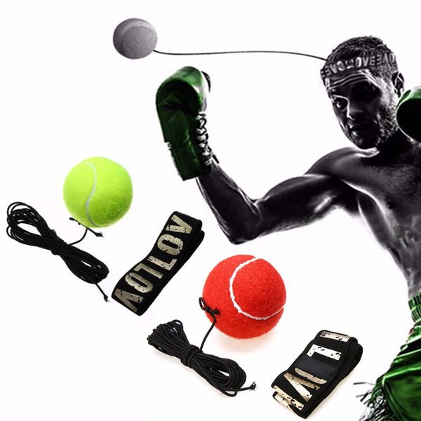 free shipping Reflex Speed Training Punch Exercise Ball Fight Ball with Head Band Punching Equipment Training Apparatus Muay Thai Boxing