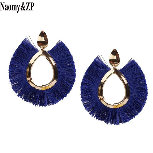 Naomy&ZP 2018 Tassel Earrings for Women Big Fringe Earings Fashion Jewelry Female Summer Style Bohemian Hanging Drop Earrings