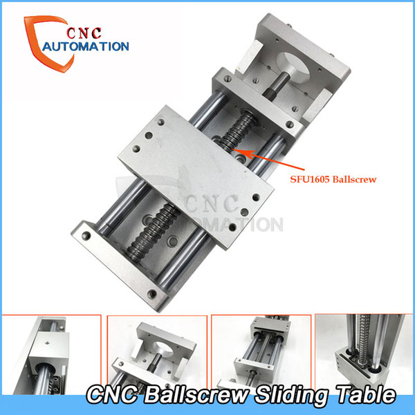 top popular CNC Sliding Table Axis Cross Slide Linear Stage SFU1605 Ballscrew C7 Actuator Linear Motion DIY Milling Engraving 2021