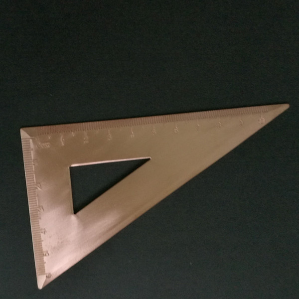 copper triangular ruler. Flat ruler Office & School Supplies Educational Supplies Drafting Supplies Copper Rulers-in Rulers