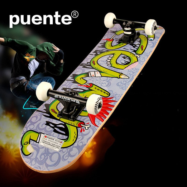PUENTE Brand New 4 Wheels Skateboard Highway Long Board Maple Adult Extreme Sports Scooters Cruiser 31