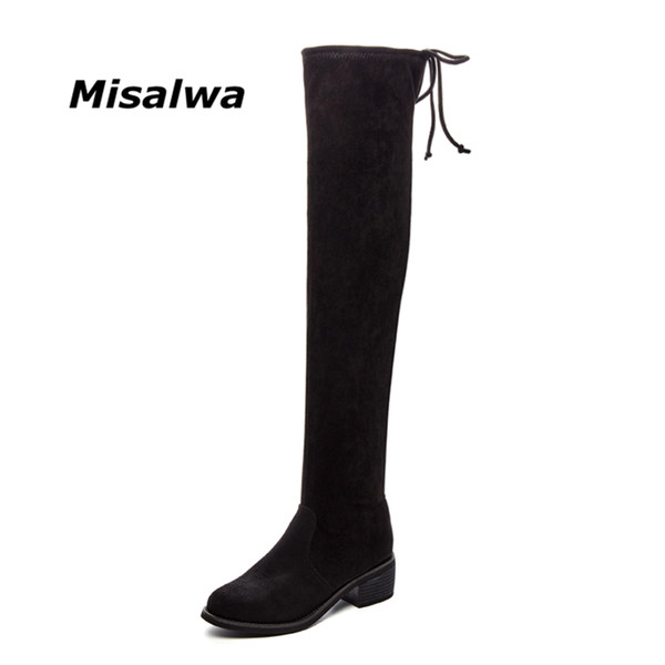 aa8fee52cbb kids knee boots Coupons - Misalwa New Autumn Winter Over The Knee Boots Kid  Suede Fashion