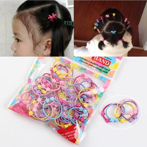 1Pack Little Girl Hair Accessories Cute Candy Colors Elastic Hair Rubber Band High Quality Kid Ponytail Holder Headband Ties Gum