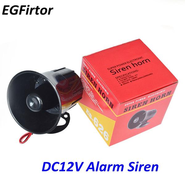 Großhandelspreis DC 12 V Draht Laut Horn Outdoor Home Security Alarmsirene 115Db Lautsprecher Auto Sirene Für Einbruchmeldeanlage