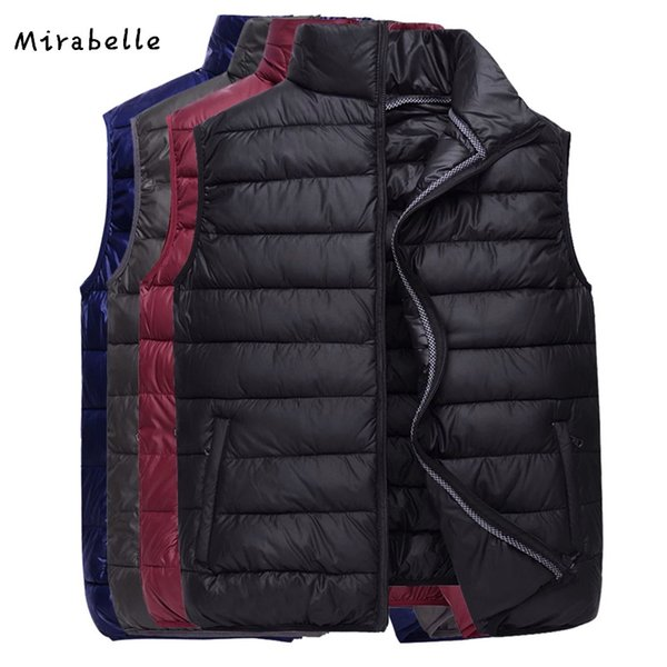 Mirabelle Brand 2018 New Vest Men Sleeveless Jacket Winter Autumn Ultralight Black Down cotton Vest Male Casual Slim Warm Waistc