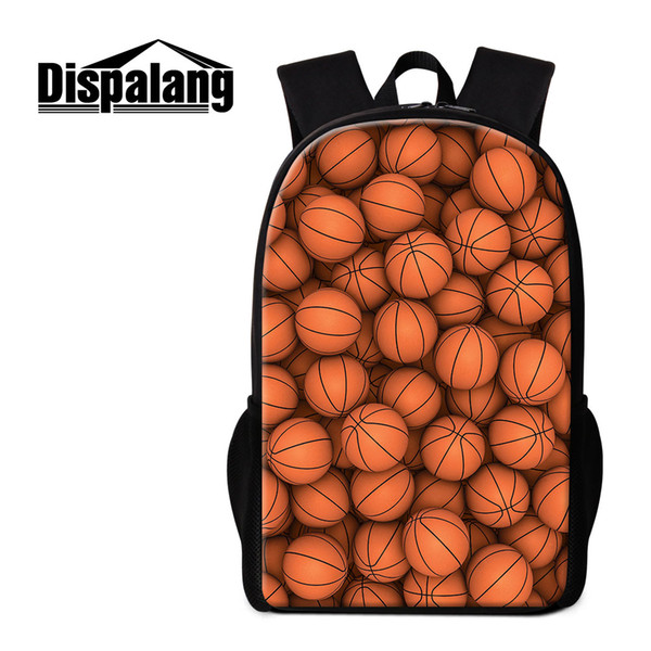 Various Basketball Pattern on Men's Backpacks Middle Capacity Bagpack Casual Tourism Double-shoulder Bag Back to School Bags for Children