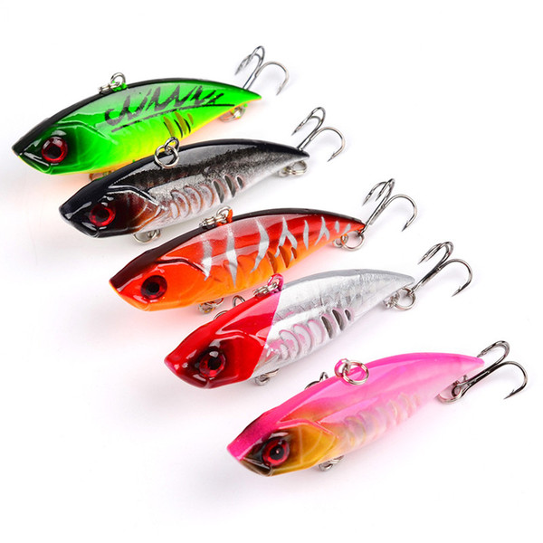 2018 New Proberos 5 Color Hard Bait Brand Fishing Lures 6.5cm 11g Fishing Bait Hook Catfish Jigs Fishing Tackle