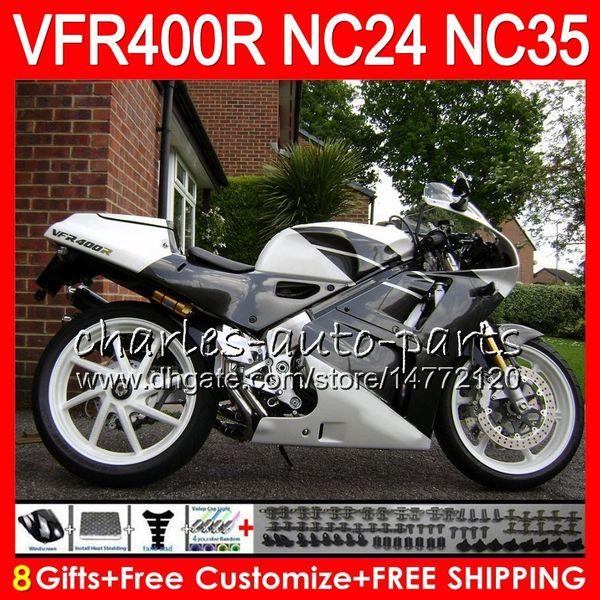 RVF400R For HONDA VFR400 R NC24 V4 Black white VFR400R 87 88 94 95 96 81HM95 RVF VFR 400 R NC35 VFR 400R 1987 1988 1994 1995 1996 Fairings