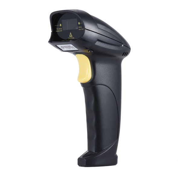 Automatic Handheld Laser Wired Barcode Scanner USB2.0 Black Portable Scanner Flim for Supermarket Library Express Warehouse