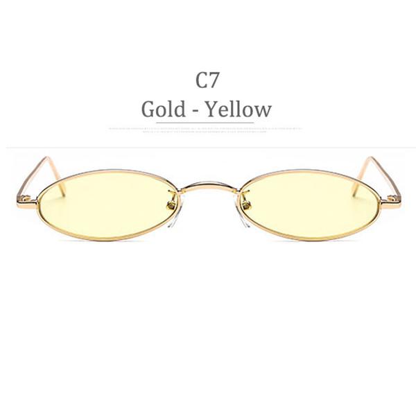 Obiettivo giallo per cornice oro C7