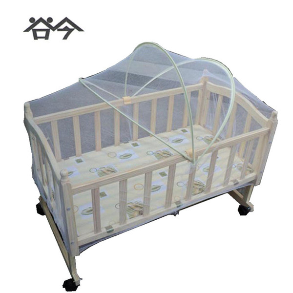 Summer Mongolian Yurt Arch Folding Mosquito Net For Baby Crib Swing Bed Or Cradle White Color Three Size