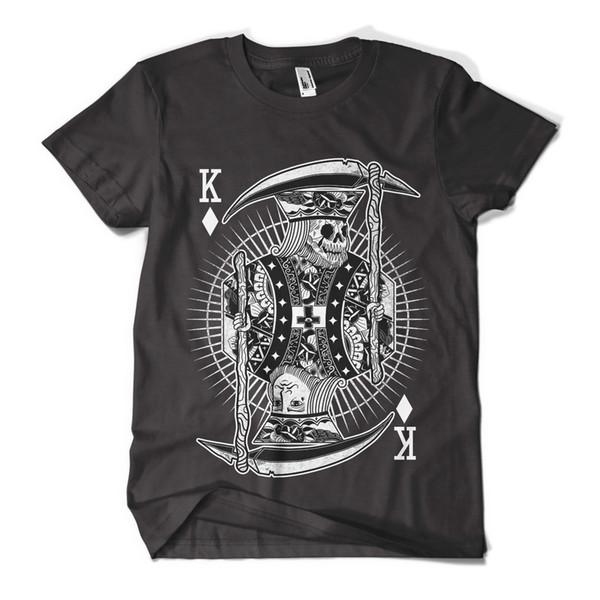 Skull King T Shirt Impresión de moda Indie Hipster Design Mens Girls Tee Top Nuevas camisetas nuevas Camisetas con tops divertidas Nuevo envío gratis