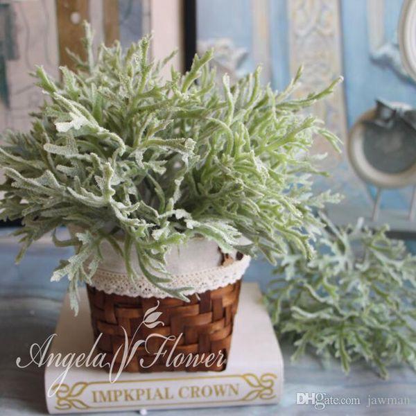 Großhandels-Weihnachten künstliche Pflanze Beflockung Geweih Blatt Hintergrund Dekoration Blumenarrangement Zubehör Gefälschte Blatt 1pcs