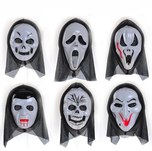1 Pcs New High Quality Horror Skull Mask Witch Scary Masks Halloween Cosplay Costume Props 6 Styles
