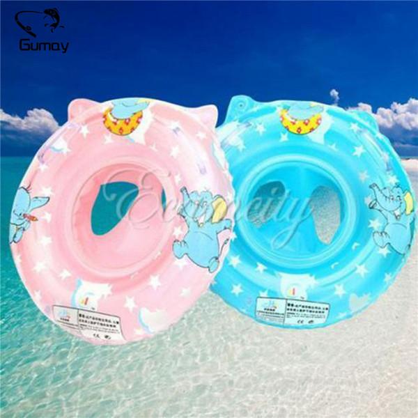 Gumay Blue / Pink Baby Swimming Float Ring Inflables Niños de seguridad Anillo de natación Accesorios para piscinas 0-5 años de edad