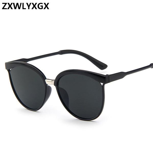 Compre Diseñador De La Marca Cat Eye Sunglasses Mujeres Plástico De ...