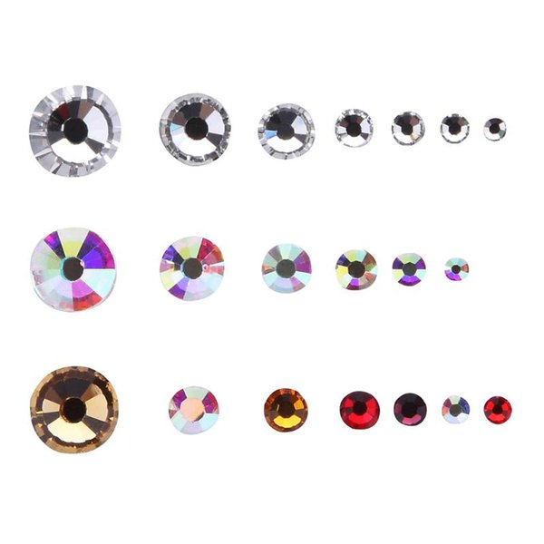 1 bag Mix Sizes Pack Crystal Flatback Rhinestones Nail Rhinestoens For Nails 3D Nail Art Decoration Gems