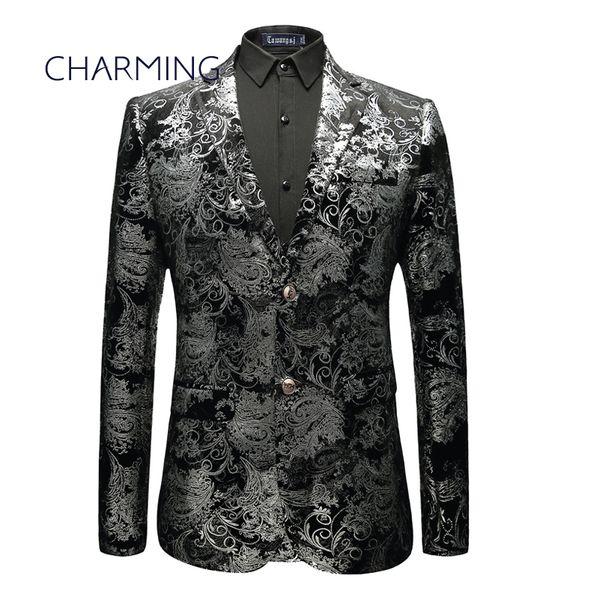 Großhandel Herren Anzug Design Hochwertige Silber Stoff Design Blazer Herren Anzug Schauspieler Sänger Tanz Für Die Gelegenheit Boutique Anzug Jacke