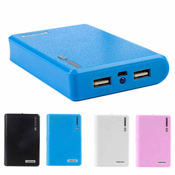 Doppel-USB-Energien-Bank 4x 18650 externen Unterstützungsladegerät-Kasten-Kasten für Telefon