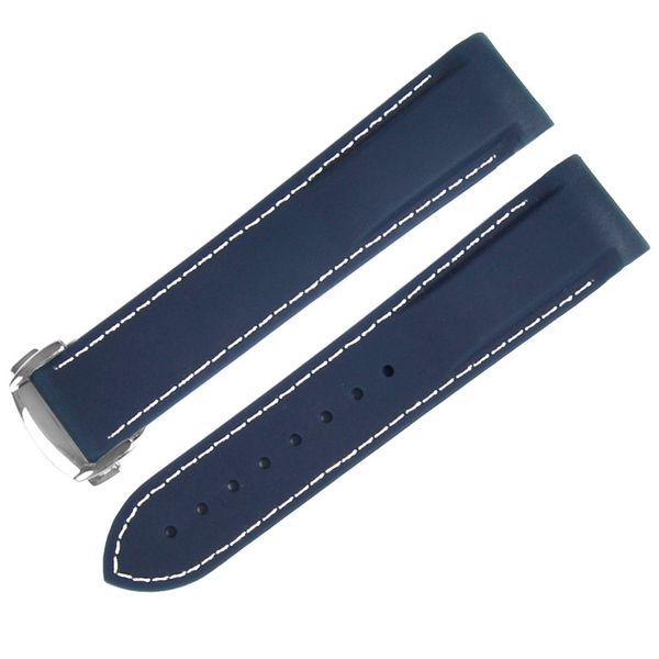 bleu foncé blanc 22mm