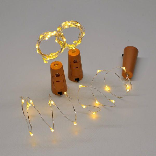 1M 10LED bouteille Lumières Cork Forme Mini Guirlandes Bouteille de vin Fée bande piles pour la fête de mariage de bricolage Décoration de Noël