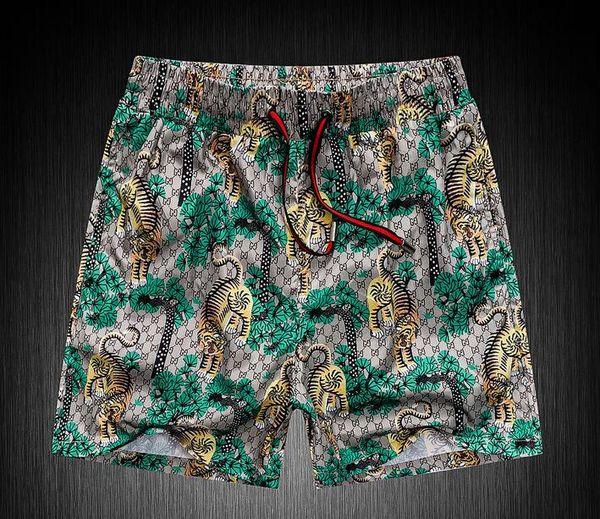 hot tiger print Boardshorts Mens Summer g Beach Shorts Pants Costumi da bagno di alta qualità Bermuda Lettera maschile Surf Life Men Swim Tiger Shorts 82181