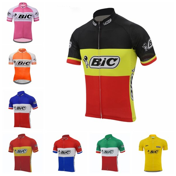 BIC Team Men Cycling Jersey Summer Racing Clothing Mtb Bike Jersey outdoor roupa ciclismo Short Sleeve Bicycle Shirts 92002Y