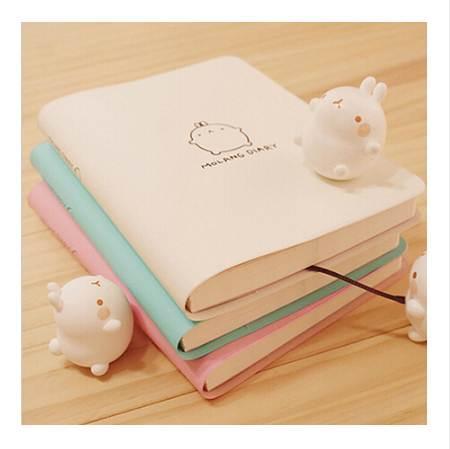 top popular Cute Rabbit Diary Kawaii Molang Calendar Planner 2018 2019 Program Notebook Notepad Pocket Journal For Gift School Supplies 2020