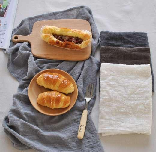 Hot 46 * 65 cm guardanapos de mesa de pano de linho de algodão guardanapos de linho de algodão casa guardanapo de linho toalhas de chá de café decoração de mesa