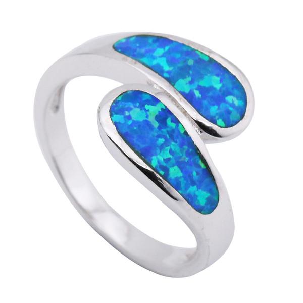 bague or opale bleue