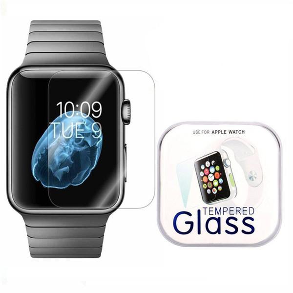 Protecteur d'écran 9H Premium en verre trempé intelligent IWatch pour Apple Watch4 40 44mm avec emballage de détail