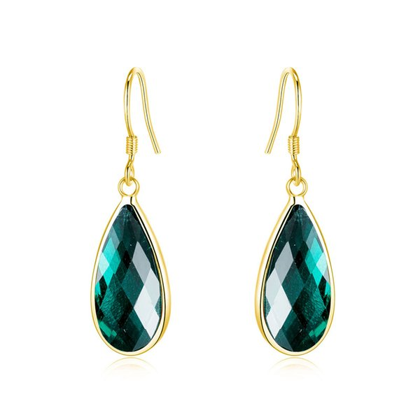 Fashion Crystal Water Drop Earrings for Women Wedding Gold Color Dangle Earring Luxury Wedding Zircon Jewelry YDHE610 1pair/lot