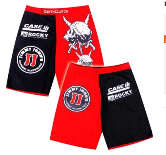 2018 Death clutch Red and black man Shorts MMA Fight shorts boxing short L XL XXL XXXL Free shipping