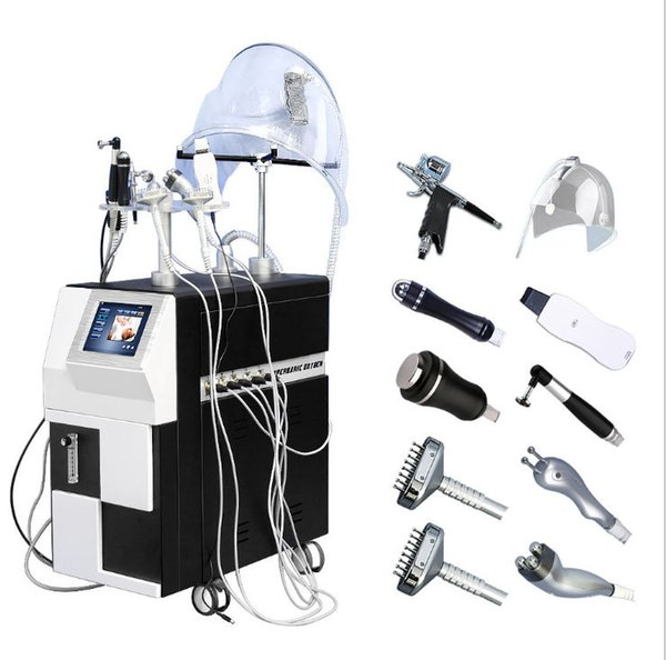 New arrival !!!Skin Care Dermabrasion Machine Oxygen Sprayer Ultrasonic Facial Clean RF Face Lift Ailice Super Bubble Beauty Equipment