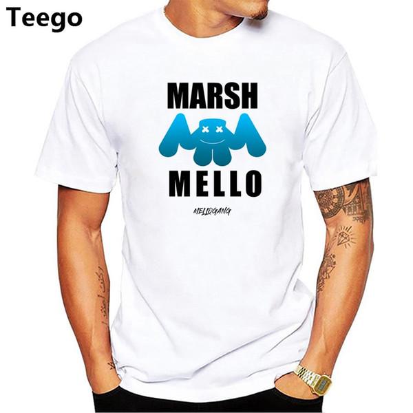 compre homens impressão dj marshmello shirt verão ocasional o