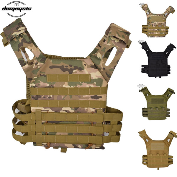 Tactical Vest Body Armor Plate Carrier Tactical Vest Lightweight Molle Armor Hunting