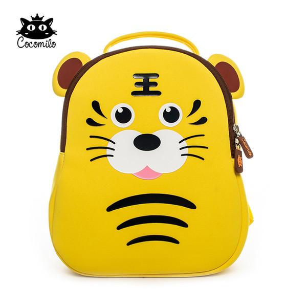 Cocomilo Brand Kindergarten Kids Cute Cartoon Animal School Backpack Children Girls Gift Fashion Waterproof School Bags for Boys