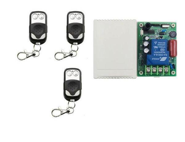 RF 433M AC 220V 30A Commutateur de télécommande sans fil pour moteur de porte / moteur de porte coulissante, commutateur de relais, récepteur de télécommande Rf