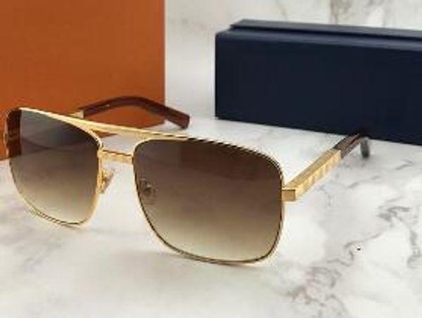 luxury men vintage sunglasses attitude clssic metal silver square frame uv 400 protection eyewear with orange box TOP QUALITY