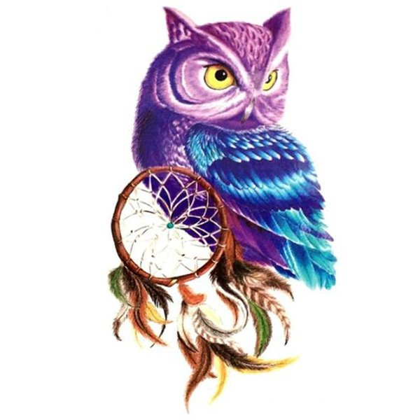 5D Diy Square Diamond Embroidery Painting owl Dream catcher of Cross Stitch Resin Full Diamond Painting owl 3d picture animals
