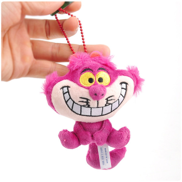 best selling New Alice in Wonderland Cheshire Cat Keychain Soft Toy Plush Doll Collection For Kids Holiday Best Gift 10cm