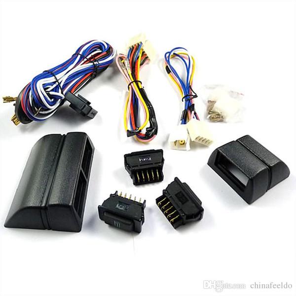 LEEWA para interruptores universales del regulador de la ventana eléctrica del tipo de dos puertas 3pcs con el tenedor y el mazo de cables #: 2468