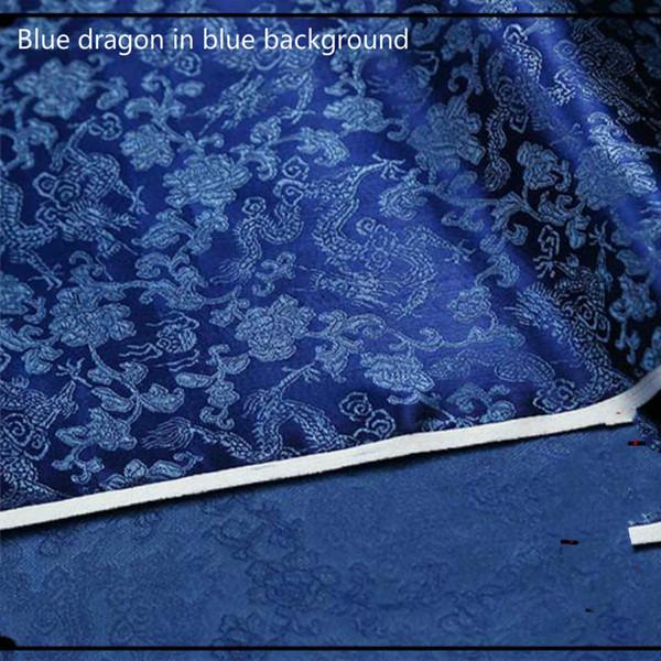 Dragon bleu fond bleu